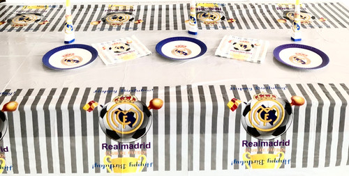 Real Madrid Fc Birthday Party Decoration