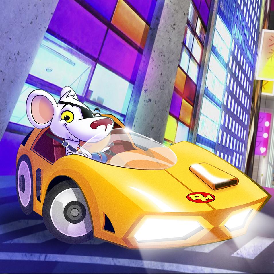 Danger Mouse Car Design