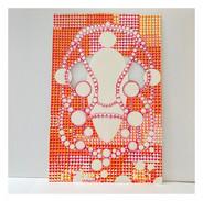 coloured pencil/cutout/paper