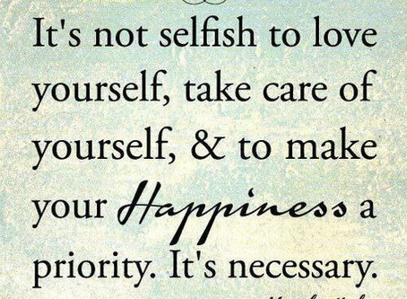 Be good to yourself..