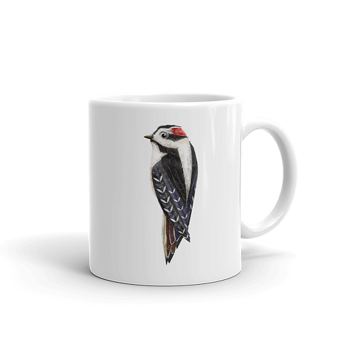 Downy Woodpecker Coffee Mug, 11 oz