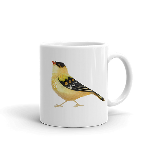 Gold Finch Coffee Mug, 11 oz