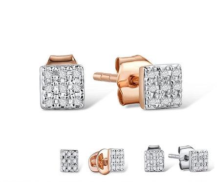 VISTOSO Gold Earrings for Women 14K 585 Rose White Gold