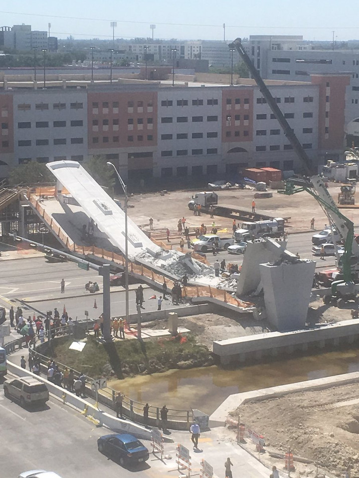 Bridge collapse in Miami at FL Atlantic University