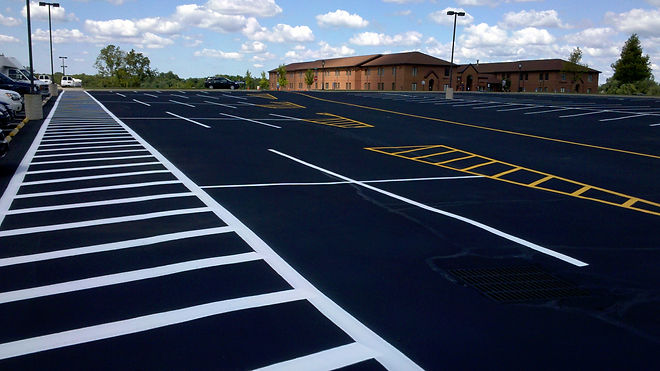 Parking lot striping services