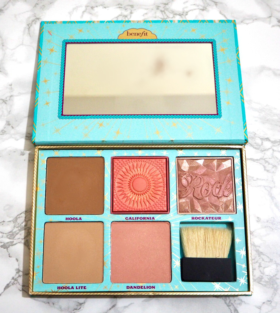 Benefit Cheek Parade blusher bronzer palette brush review