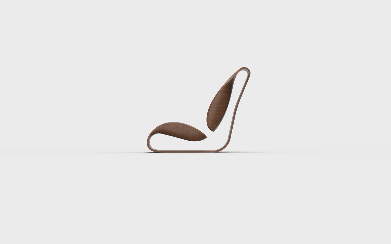 フローイング座椅子(サイド)