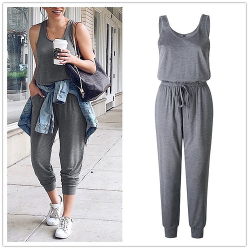 New Arrival Sexy Off Shoulder Sleeveless Lace Up Belts Jumpsuits Summer