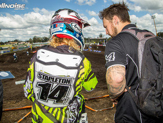 Aussie favourite Stapleton and Mechanic Tim Vare pair up for SX !