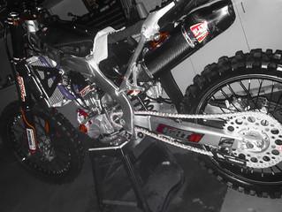 Race bike preparation for gun rider Jai Constantinou #44