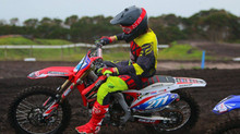 Gun U19 rider Jai Constantinou goes 1 - 1 on his Eight11 built Honda CRF 250