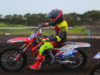 Gun U19 rider Jai Constantinou goes 1 - 1 on his Eight11 built Honda CRF 250