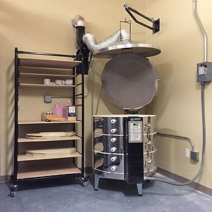 New Amaco excel with vent and ware cart.