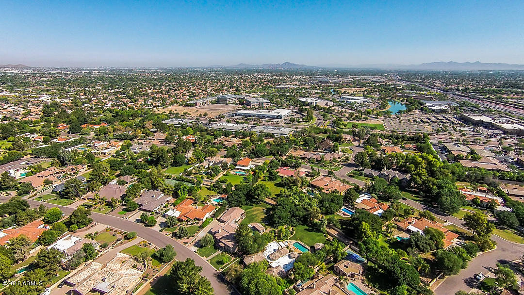 drone picture of tempe az