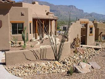 landscape desert house