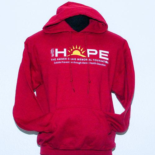 WH Logo Hooded Sweatshirt - Red