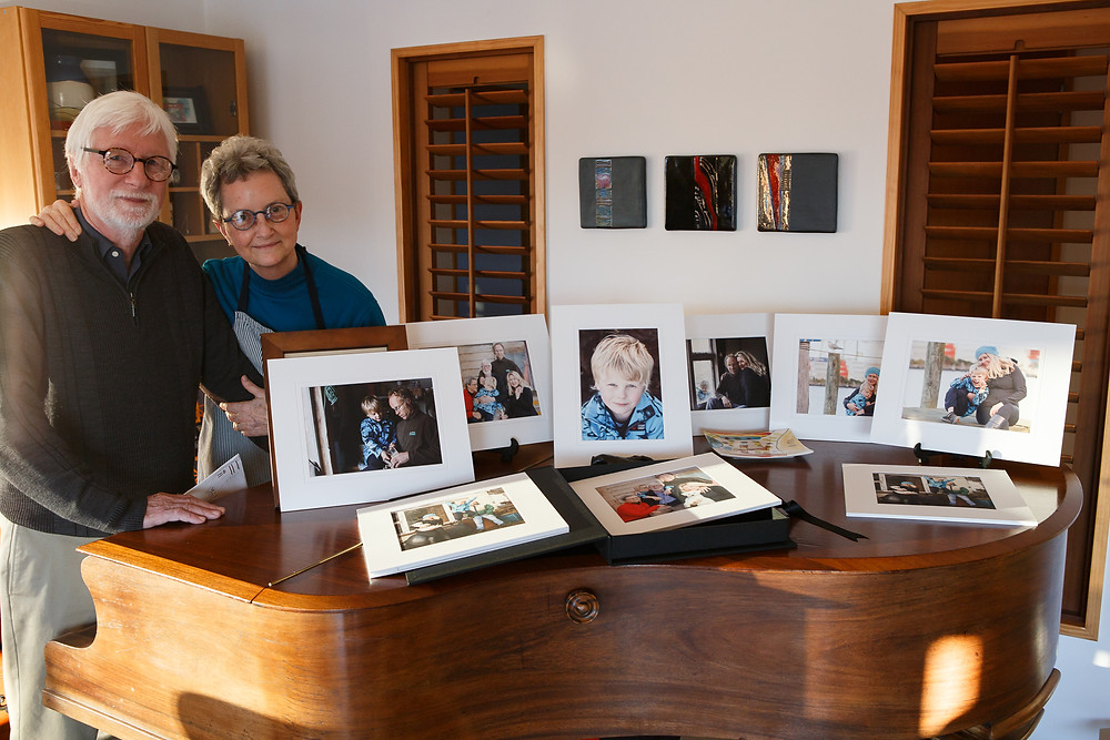 Stunning printed and matted prints delight these grandparents