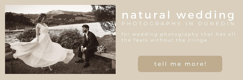 natural wedding photography in Dunedin for small weddings