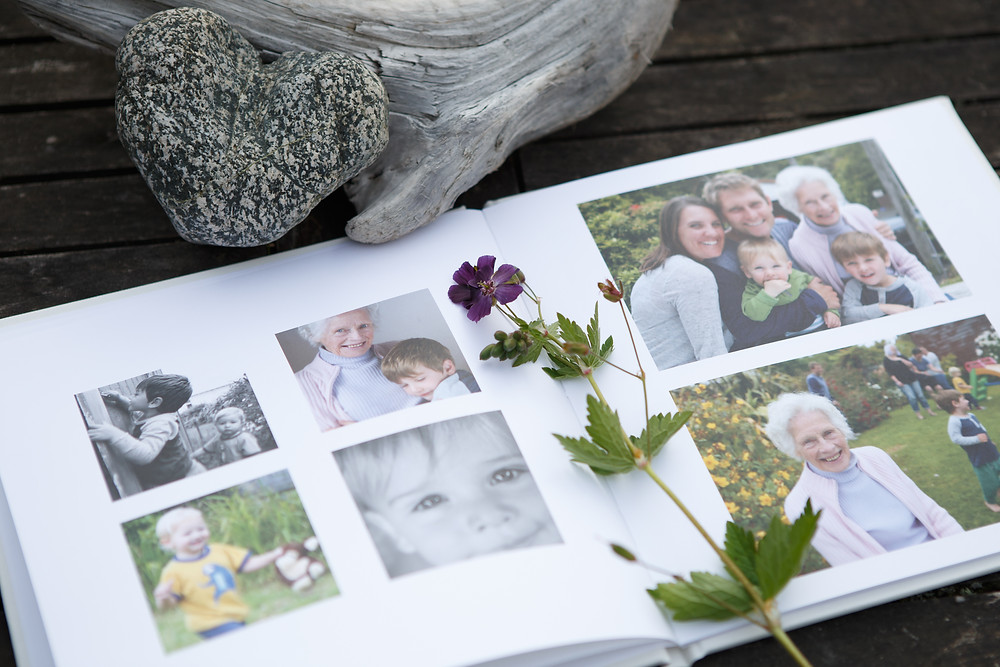 A beautiful photo album is one way to print your family photographs