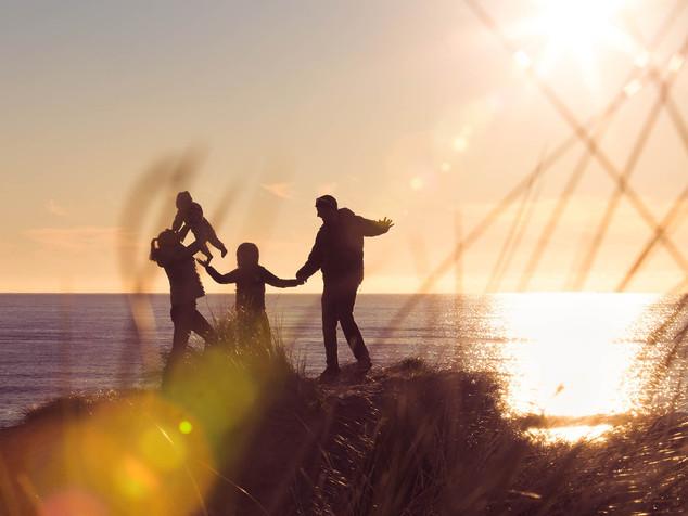 Dunedin beach family portrait