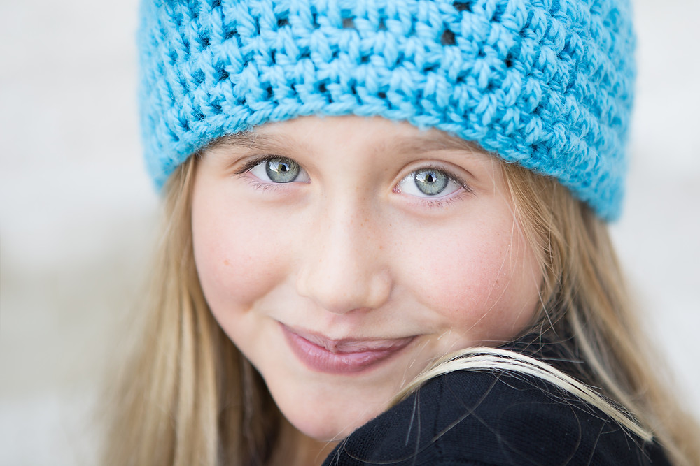 Portrait of a girl by Dunedin photographer Edith Leigh