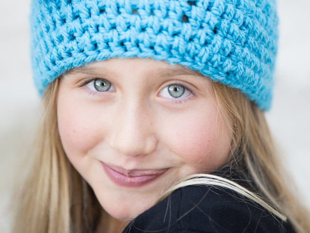 Portrait of a girl in Dunedin