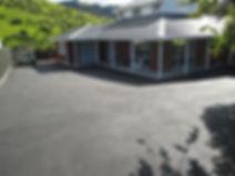 A finished asphalt driveway in Dunedin