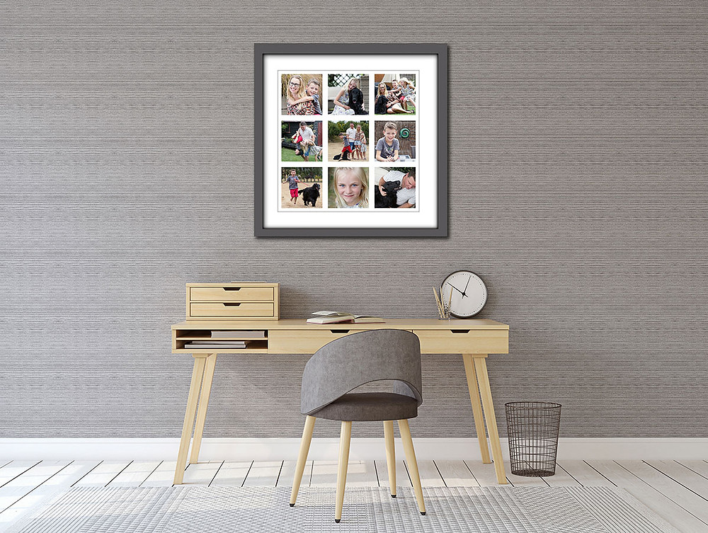 Fine Art framed print of family portraits