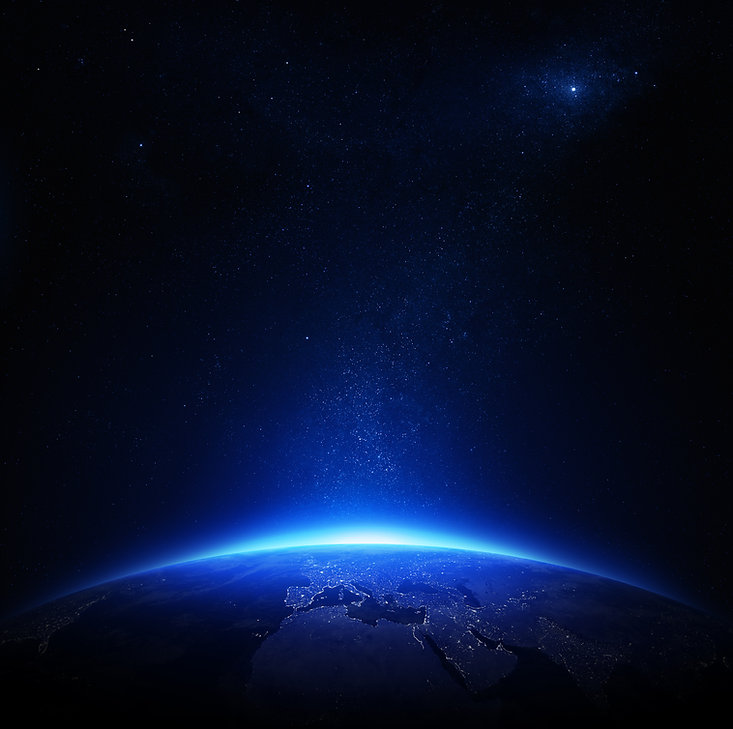 Earth at night with city lights (Element