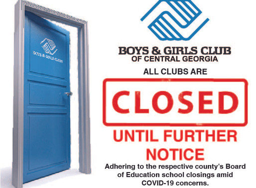 Clubs Closed Until Further Notice
