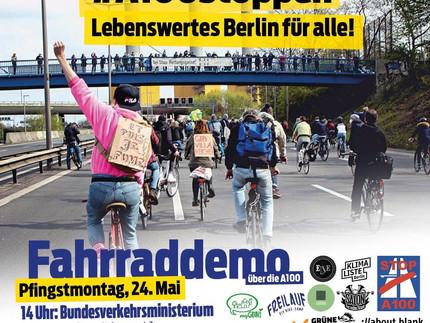 24. Mai ab 14:00 Uhr: A100 stoppen – Lebenswertes Berlin für alle!