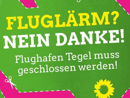 Tag gegen Lärm: Flughafen Tegel muss geschlossen werden!