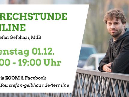 Dienstag 01.12. | 18:00 - 19:00 Uhr - Sprechstunde Online mit Stefan Gelbhaar