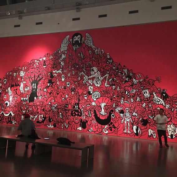 fresque éphémère Musée GMOMA Séoul
