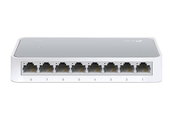 Switch de mesa de 8 portas 10/100Mbps