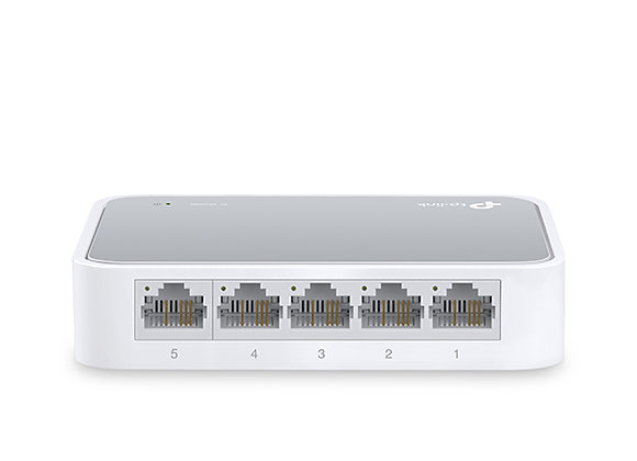 Switch de mesa de 5 Portas 10/100Mbps