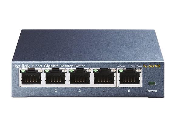 Switch de Mesa de 5 Portas de 10/100/1000Mbps
