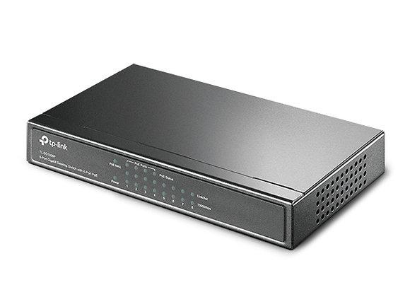 Switch de Mesa Gigabit com 8 Portas (4 Portas PoE)