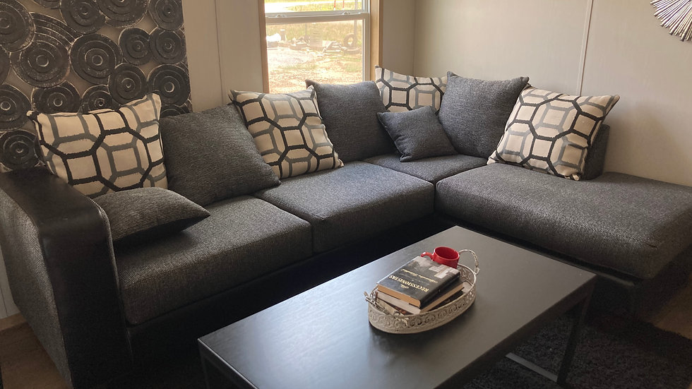 Black & Grey Sectional