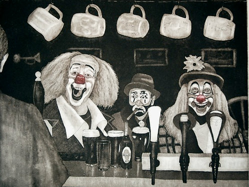 Clowning Around - Etching with Aquatint