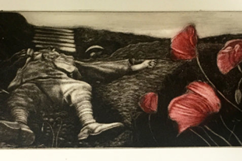 In Flanders Fields - Faux Mezzotint