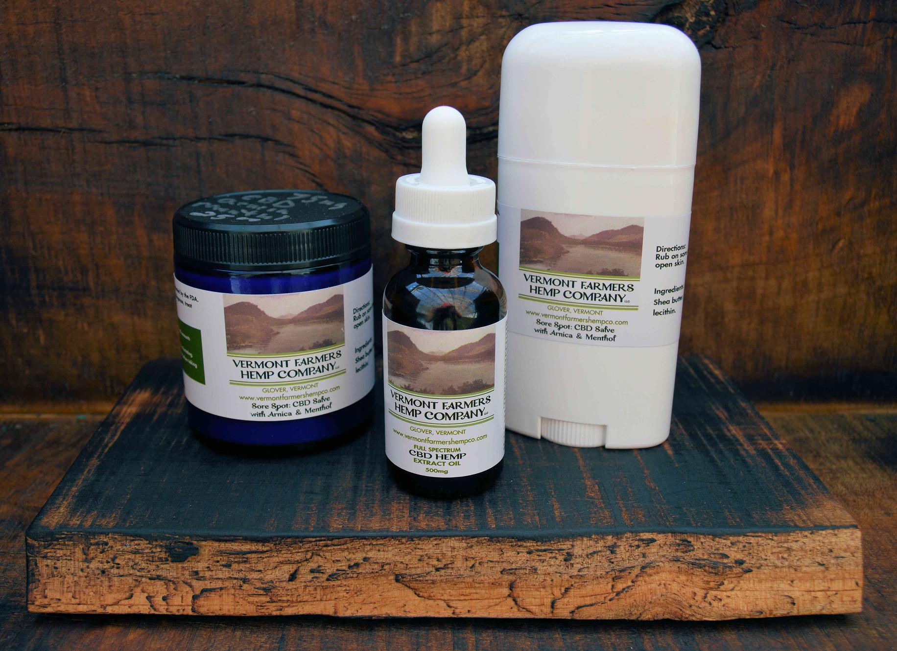 CBD Products | Vermont Farmers Hemp Company | United States