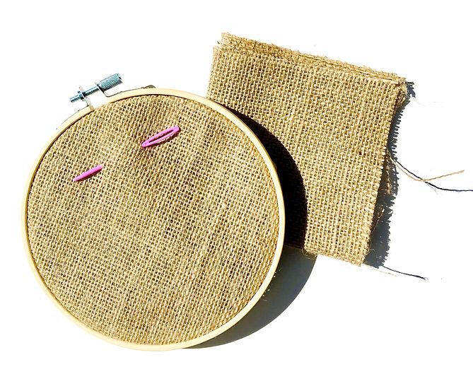 Circle with burlap & needle.jpg