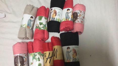 スウェーデンママの手作りスカーフ