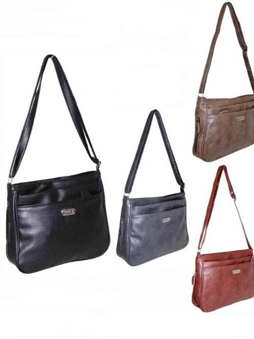 BD2538 Nicole Brown casual crossover bag