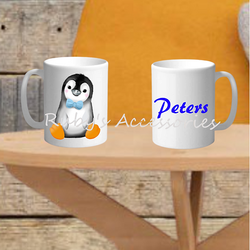 Personalised Penguin Mug