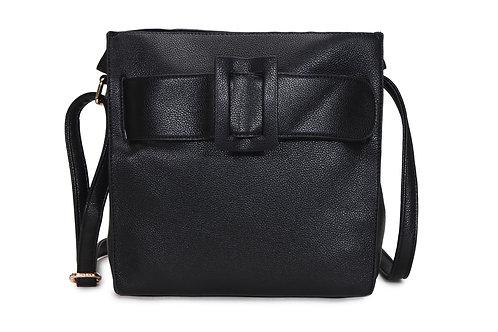 3780.  Cross body bag with belt detailed front & detachable internal bag.