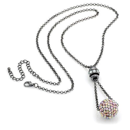 N29546 - Hematite crystal necklace