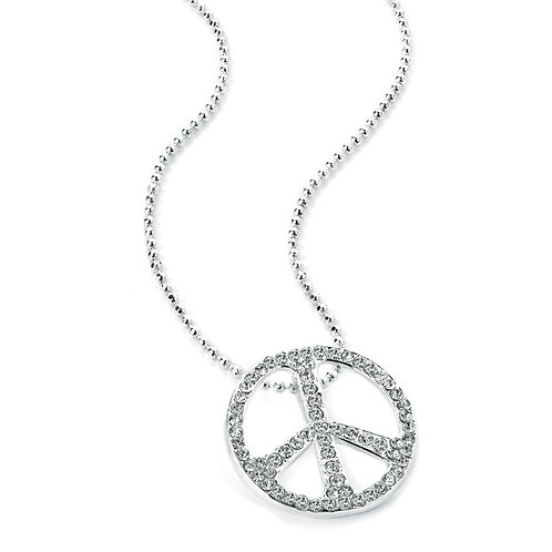 N26795 - Silver colour peace necklace