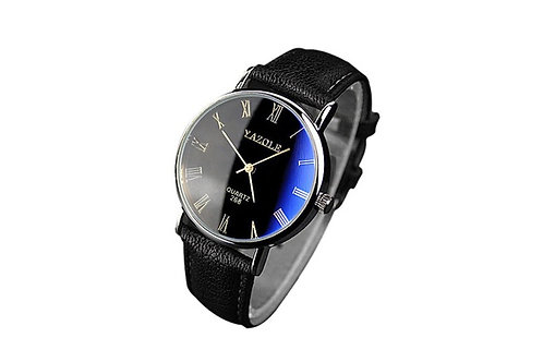 YAZOLE.  Mens Faux leather Analog watch.